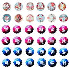 12PCs Glass Dome Cabochons Constellation Embellishment Mixed 20mm