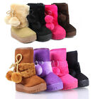 New Cute Zipper Synthetic Faux Fur Toddlers Kids Girls Winter Boots Shoes NO BOX