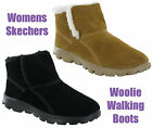 New Womens Skechers On The Go Chugga Fur Lined Warm Ankle Boots Size 4-8 UK