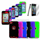 DELUXE 3-PIECE HARD/SKIN RUGGED CASE FOR IPOD TOUCH 4 4G 4TH GEN 5 IN 1 EXTRAS