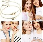 2pcs Heart Partners in Crime Best Friend BFF Chain Necklace Ring