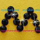 GENUINE Swarovski Jet Black (280) Crystal ( No hotfix ) Flat back Rhinestone Gem