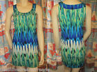 NWT $82 DEX Feather INFUSED Embellished JEWELED Sleeveless HIGH LOW Tunic Top