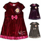 Girls Disney Princess Velour Winter Dress Kids Party Dresses Age 3 4 5 6 Years