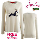 Joules Hedgeford Round Neck Jersey Top with Horse/Reindeer (R) **BNWT**