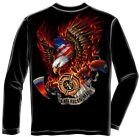 Erazor Bits FF2062 Patriotic fire eagle American Made Long Sleeve T-Shirt