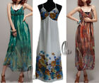 BOHO Floral Chiffon Sexy V-Neck Womens Party Beach Maxi Dress AU SELLER dr103