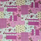 Floral Patchwork 100% Cotton Crafting Fabric - Pink  ( FQ - Metres )