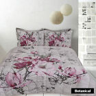 Retro Home Botanical Blossom Butterfly Quilt Cover Set SINGLE DOUBLE QUEEN KING