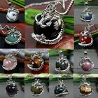 1x Dragon Wrap Ball Bead Jasper Gemstone Quartz Charm Pendant For Necklace DIY