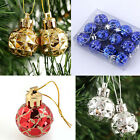 12 Pieces Xmas Tree Glitter Shiny Ornament Christmas Decoration Bauble Ball HOT