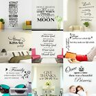 Living Bedroom English Quote Saying Home Wall Sticker Decal Removable Vinyl
