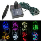 60/100 LED 8 Color Solar String Light Christmas Xmas Wedding Tree Party