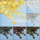 Approx 180-250pcs Iron Normal Filigree Flower Bead Caps 6x6mm Jewelry Findings