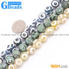 """Tibetan Fire Agate Loose Evil Eye Faceted Round Beads For Jewelry Making 15"""""""
