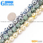 "10mm Round Faceted Gemstone Fire Agate Loose Tibetan Beads15"" DIY Jewelry Making"