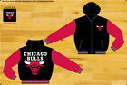 "Chicago Bulls NBA Hooded Jacket Adult Black Red Reversible Nylon Fleece ""BLOWOUT on eBay"