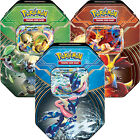 Pokemon XY Kalos Power Collectors Tins 2014 Chesnaught-EX Delphox-EX Greninja-EX
