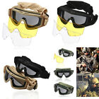 NEW CS Airsoft Tactical SWAT Goggles Glasses Eye Protection Mask with 3 Lenses