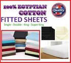 100% COTTON 200TC PLAIN DYED FITTED SHEET /PILLOWCASES SINGLE DOUBLE KING S/KING