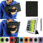 360° Rotating Protective Holder Case Cover Hand Strap for iPad 4 3 2 Smart cover