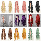 Hot Fashion Womens Long Wavy Curly Hair Anime Cosplay Party Full Wig & Cap 80cm