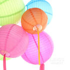 10* Round Paper Lanterns + Free LED Bulbs per Lantern Party Wedding Decoration.