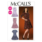 McCall's 7015 Easy Sewing Pattern to MAKE Semi-Fitted Flared Dress also Petite