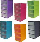 PLASTIC 4 DRAWER DRAW TOWER STORAGE UNIT OFFICE GARAGE A5 DESKTOP ORGANISER TIDY