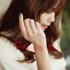 1PC Simple Metal Infinite Infinity Finger Ring US7 Golden Silvery Rose 3 Colors