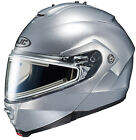 HJC IS MAX2SN Modular Solid Snow Helmet Silver w/Electric Shield All Sizes