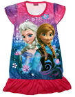 Disney Frozen Elsa & Anna Children Girls Kids Pajama Dress Skirt 3-9 Yr Hot Pink