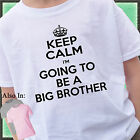 KEEP CALM I'm going to be a BIG BROTHER Shirt infant baby family announcement