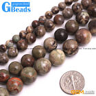 "Natural Flower Agate Beads Jewelry Making Round Gemstone Loose Beads 15"" 8-16mm"