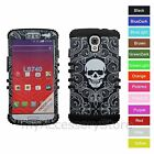For LG Volt LS740 Skull Skeleton Hybrid Rugged Impact Armor Phone Case Cover