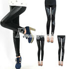Fashion Women's Faux PU Leather Stretchy Leggings 3 Colors Slim Fit