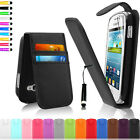 Leather Wallet Pouch Case Cover For Samsung Galaxy Fame S6810 + Screen Guard