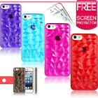 3D Diamond Pattern Design Hard Case Cover Fits iPhone 5 5G Free Screen Protector