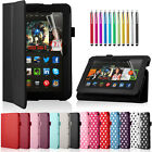 "Leather Case Smart Cover Stand For The Amazon Kindle Fire HDX 7"" INCH Tablet"