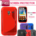 GRIP S-LINE GEL CASE COVER & SCREEN PROTECTOR FOR SAMSUNG GALAXY ACE PLUS S7500