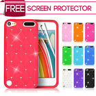 Diamond Star Soft Silicone Case Cover Fits iPod Touch 5 5TH Gen&Screen Protector