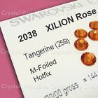 GENUINE Swarovski Tangerine (259) Iron On glass crystal Gem Hot fix Rhinestones