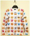New Women/men Pullovers Emoji Emotion print 3d cute Sweatshirts Hoodies top