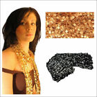 Gold or Black Sequin String Scarf Fashion Xmas Party Ladies Fashion New Gift