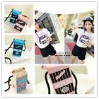 Peculiar Girl's Canvas Shoulder Bag Women Milk Cartons Crossbody Bags Fashion W