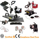 Combo Garment T-Shirt Cap Mug Plate Heat Press Sublimation Transfer Machine CE