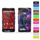 For Motorola Droid Maxx / Ultra Anchor Flower Hybrid Impact Phone Case Cover