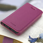 For iPhone 5 SE 5S GGMM Luxury Genuine Real Leather Flip Slim Case Cover +Screen