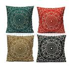 Compass Vintage Linen Cotton Cushion Cover Home Decor Sofa Throw Pillow Case