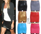 AU SELLER Celeb Style PU Faux Leather Punk Rockabilly Bodycon Mini Skirt dr125